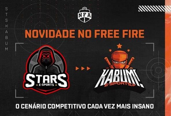 KaBuM! eSports compra a Stars e ingressa no cenário de Free Fire
