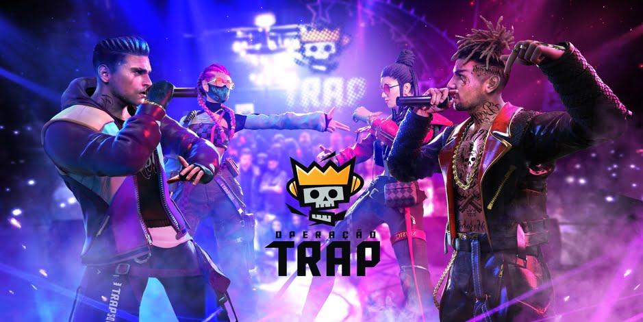 Free Fire: Battle royale recebe skin e música do grupo T.R.A.P