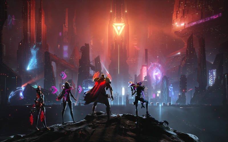 Akali, irelia, Pyke e Jinx no Universo Projeto