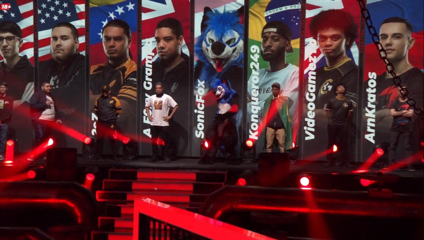SonicFox substitui bandeira dos EUA pela do movimento trans em torneio de Mortal Kombat