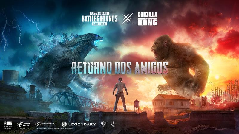 PUBG Mobile ganha crossover com filme Godzilla vs. Kong