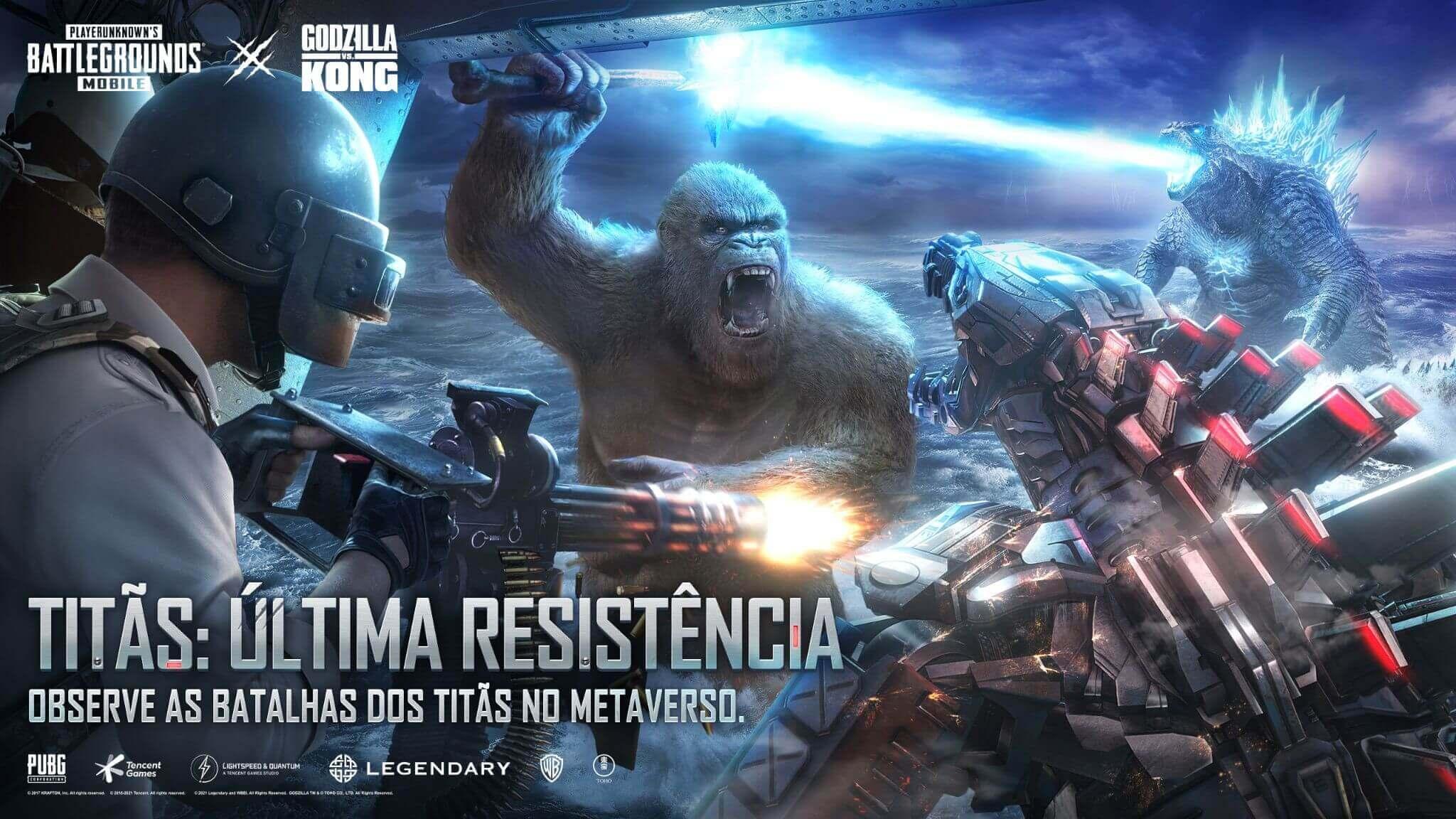 PUBG Mobile: Disponível novo capítulo de Godzilla vs. Kong