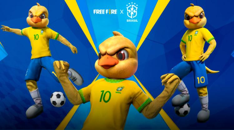 Free Fire receberá novas skins da Seleção Brasileira e conjunto do Canarinho Pistola